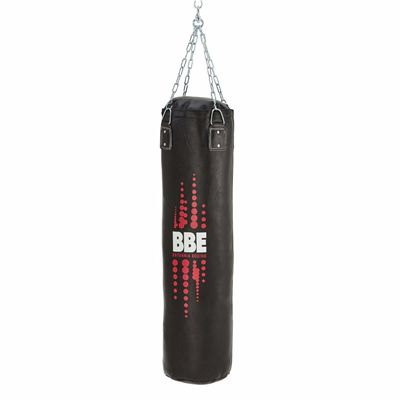 BBE Club Leather 120cm Punch Bag with Chains and Swivel - Side