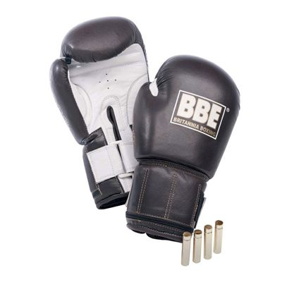 BBE Pro Leather Weighted Sparring Gloves