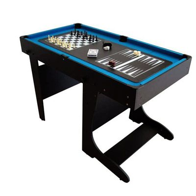 BCE 4ft 12 in 1 Folding Multi Games Table Chess Backgammon