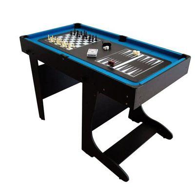 BCE 4ft 12 in 1 Folding Multi Games Table Chess Backgammon