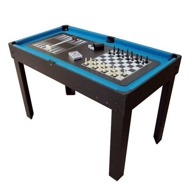 BCE 4ft 12 in 1 Multi Games Table Chess Backgammon