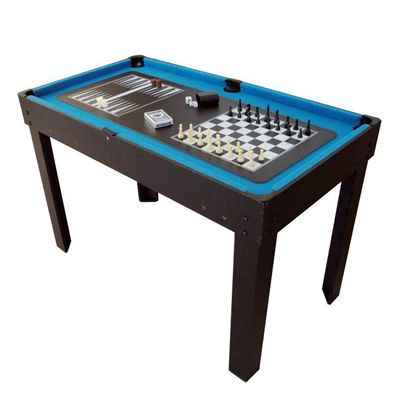 BCE 4ft 21 in 1 Multi Games Table Chess Backgammon