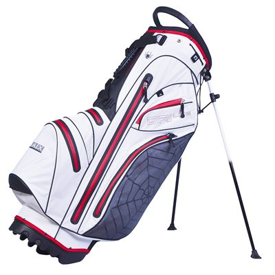 Big Max Dri Lite Spider Stand Bag - White and Red