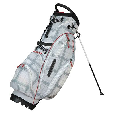 Big Max Dri Lite Stand Bag - Grey/Check