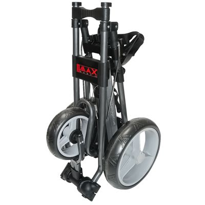 Big Max Easy III Golf Trolley - Red - Folded