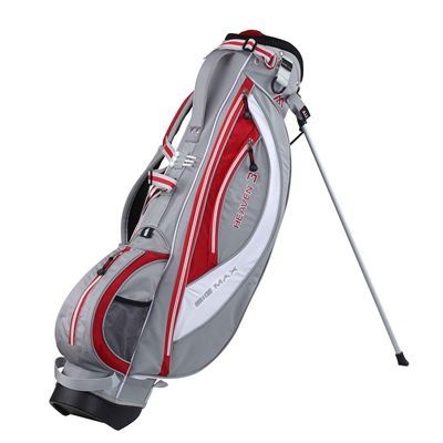 Big Max Heaven 3 Stand Bag - Silver/White/Red