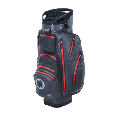 Big Max I-Dry Aqua O Cart Bag-Charcoal and Red