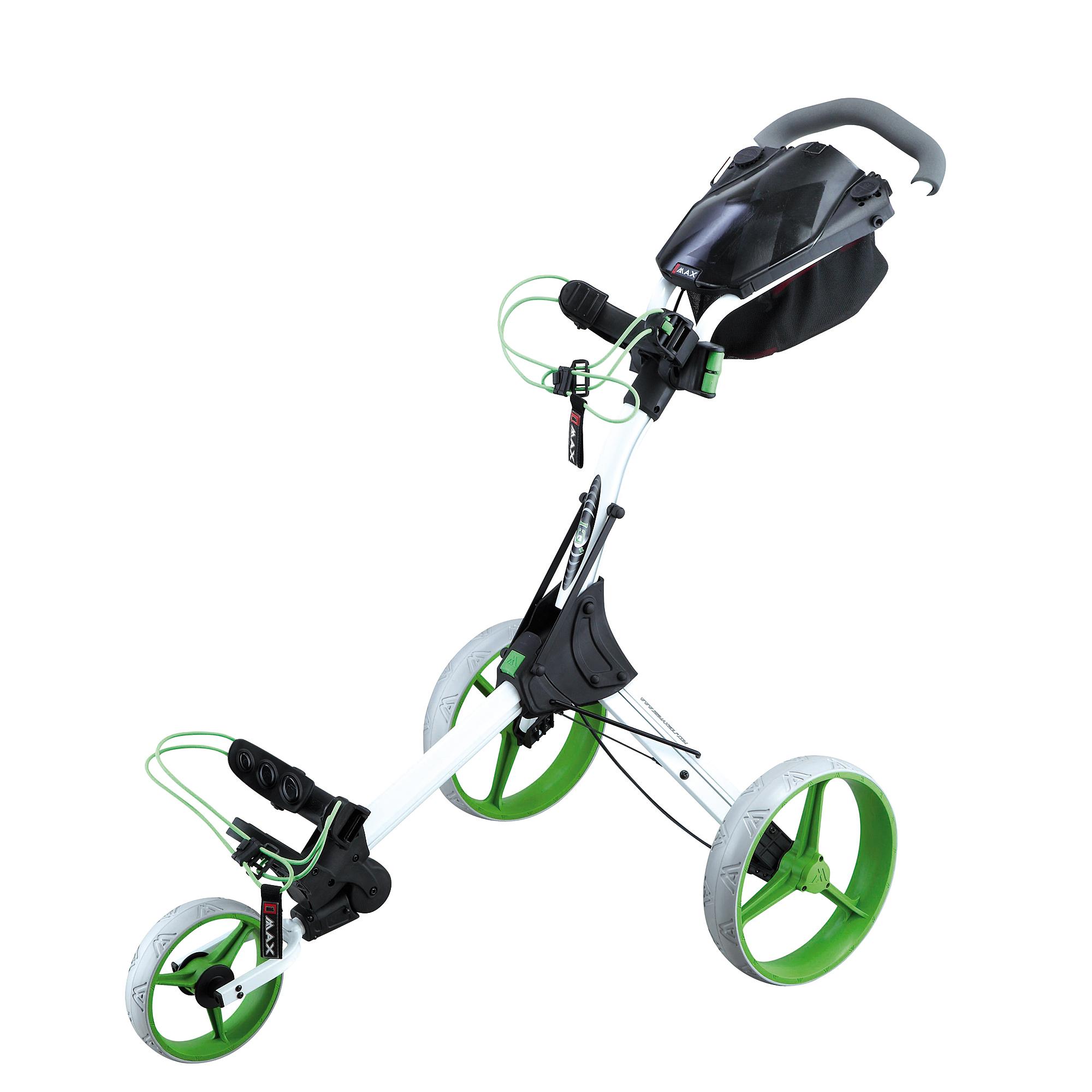 Big Max IQ Plus Golf Trolley – White/Lime