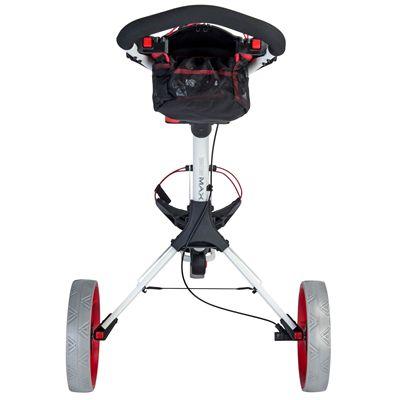 Big Max IQ Plus Golf Trolley White - Red - Back