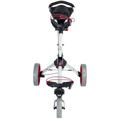 Big Max IQ Plus Golf Trolley White - Red - Front
