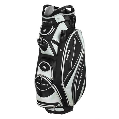 Big Max Terra 8 Cart Bag - Black/Silver