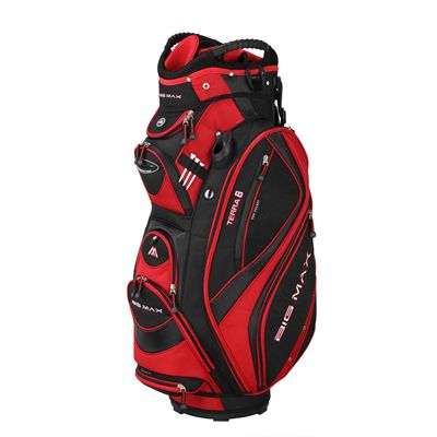 Big Max Terra 8 Cart Bag Black/Red