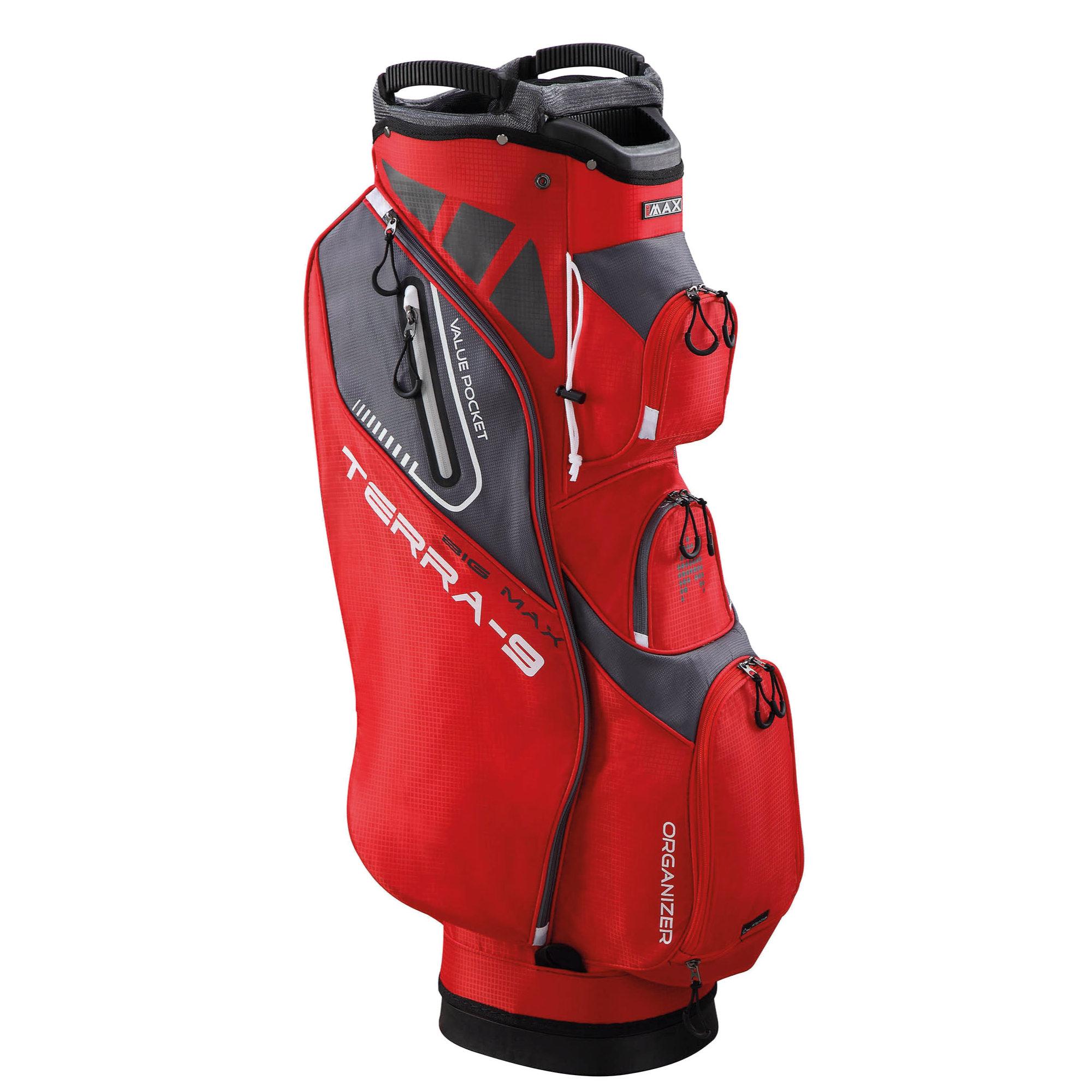 Image of Big Max Terra 9 Golf Cart Bag - Red