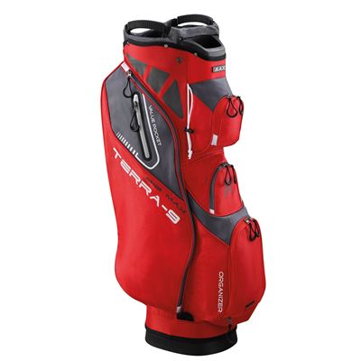 Big Max Terra 9 Golf Cart Bag - Red - Side