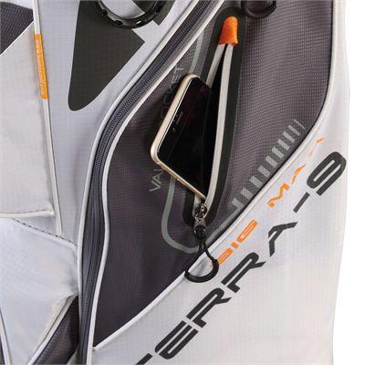 Big Max Terra 9 Golf Cart Bag - White - Side - Zoom3
