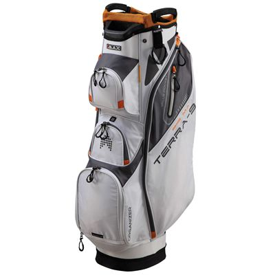 Big Max Terra 9 Golf Cart Bag - White - Side