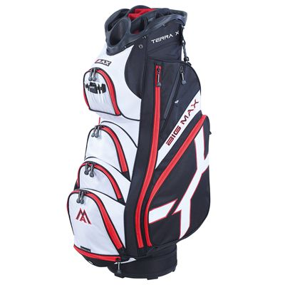 Big Max Terra X Cart Bag-Black and White and Red