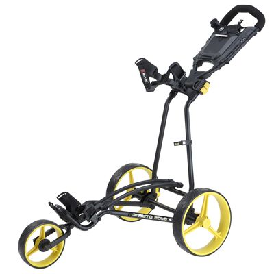 Big Max TI 1000 Plus Autofold Golf Trolley-Black and Yellow