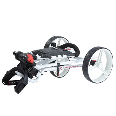 Big Max TI 1000 Plus Autofold Golf Trolley-White-Folded