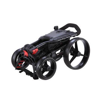 Big Max Wheeler Golf Trolley - Black - Folded