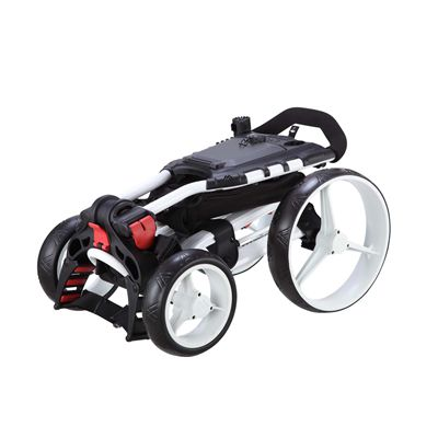 Big Max Wheeler Golf Trolley - White - Folded