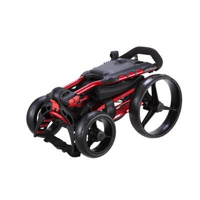 Big Max Wheeler Golf Trolley - Red - Folded