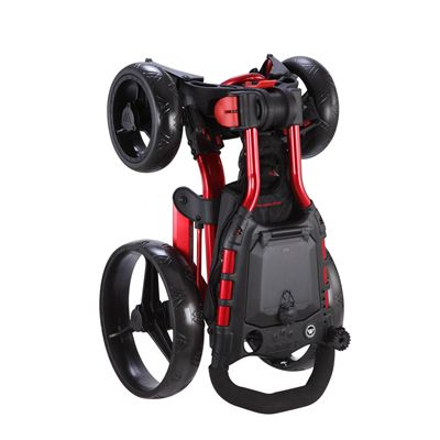 Big Max Wheeler Golf Trolley - Red - Standing