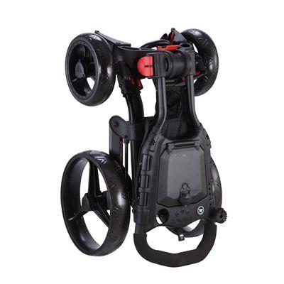 Big Max Wheeler Golf Trolley - Black - Standing