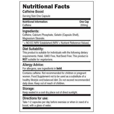 Bio-Synergy Caffeine Boost - nutritional value