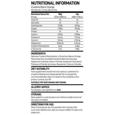 Bio-Synergy Creatine Boost - nutritional values