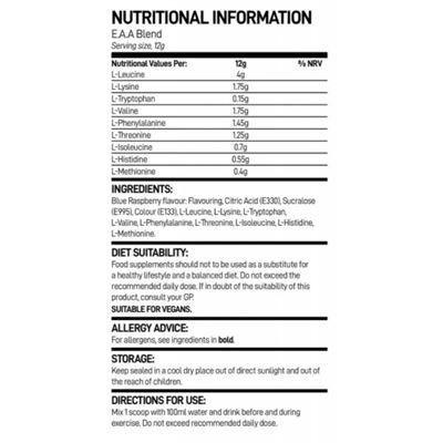 Bio-Synergy Essential Amino Acids - nutritional values