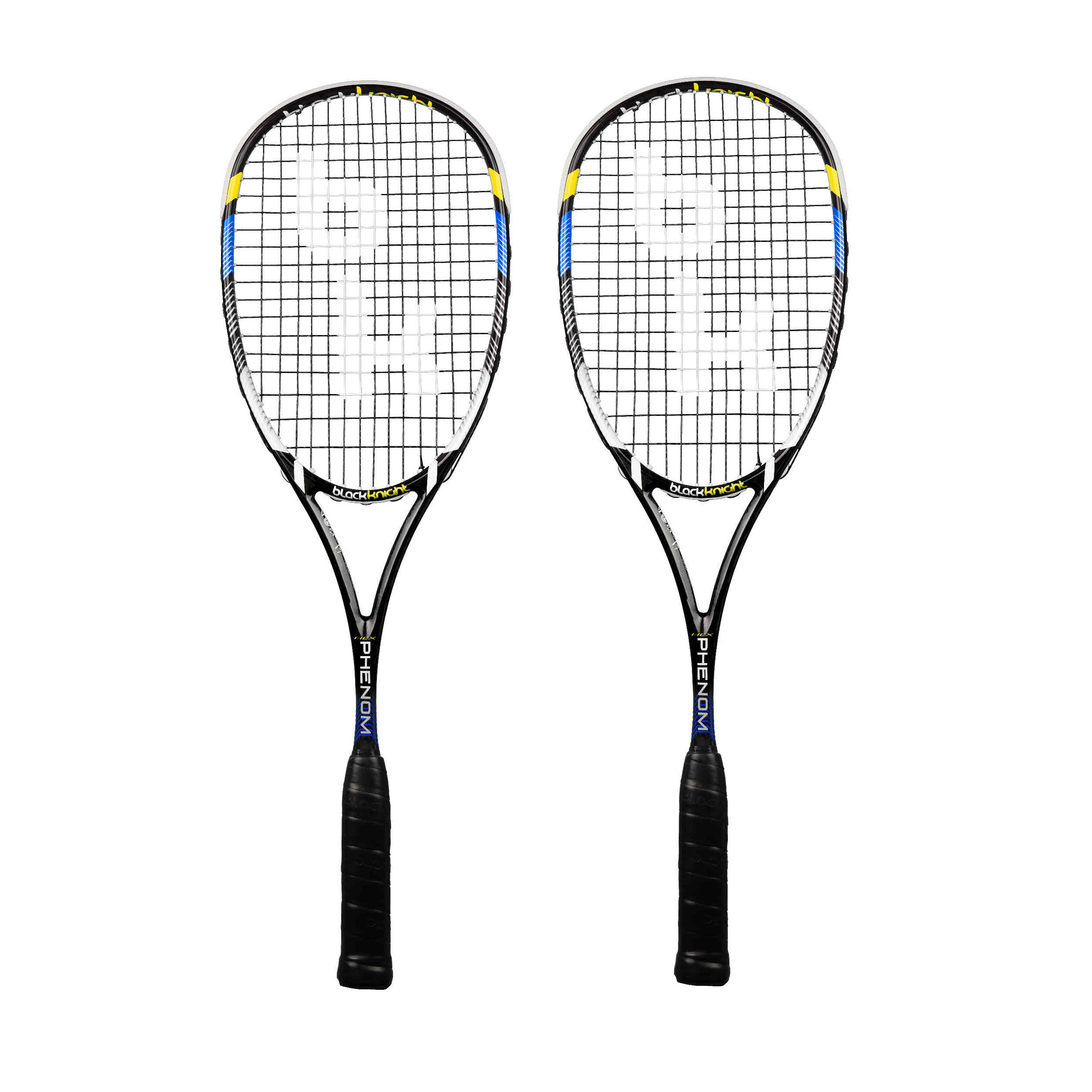 Black Knight Hex Phenom Squash Racket Double Pack
