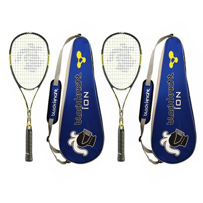 Black Knight Ion X Force Black Squash Racket - Cover