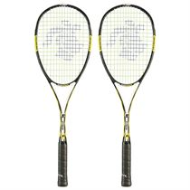 Black Knight Ion X Force Black Squash Racket Double Pack