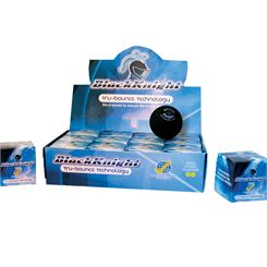 Black Knight Tru-Bounce Double Yellow Dot Squash Ball - 1 Dozen