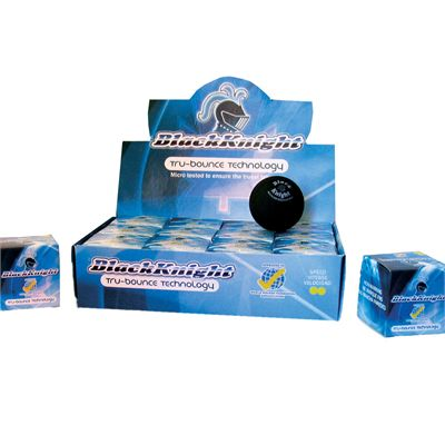 Black Knight Tru-Bounce Double Yellow Dot Squash Ball 1 Dozen