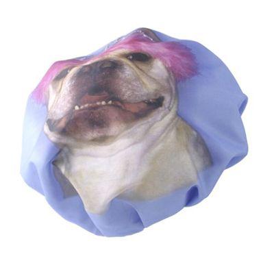 Bliss Novelty Shower Cap with buldog image