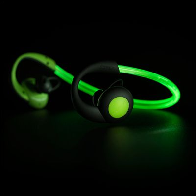 Boompods Sportpods Vision Illuminating Sports Headphones - Glowing