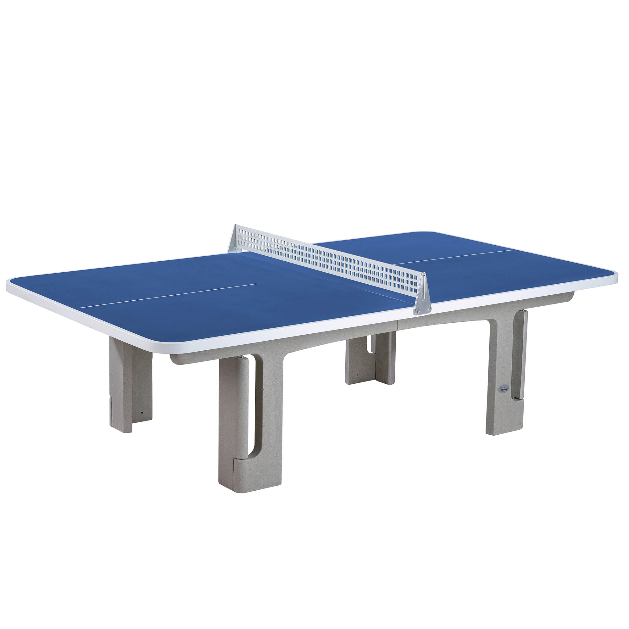 Image of Butterfly B2000 Standard Concrete Table 30SQ Table Tennis Table - Blue
