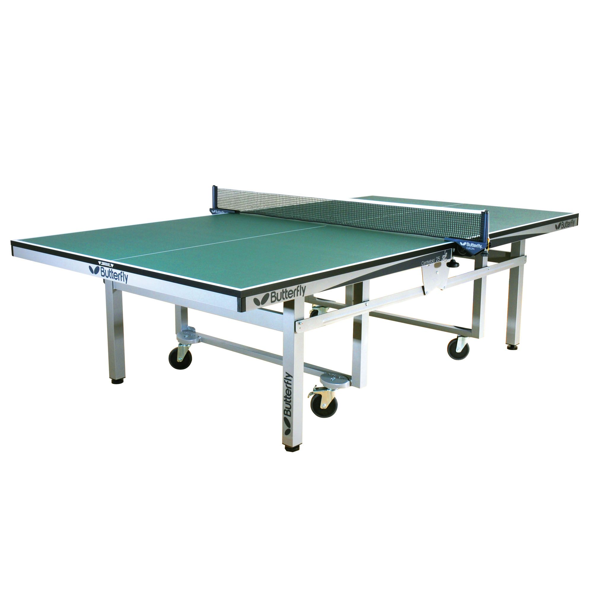Butterfly centrefold rollaway indoor table tennis table for Table tennis