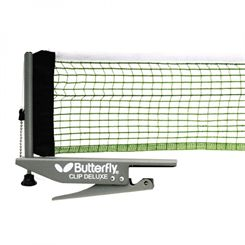Butterfly Clip Deluxe Table Tennis Net and Post Set