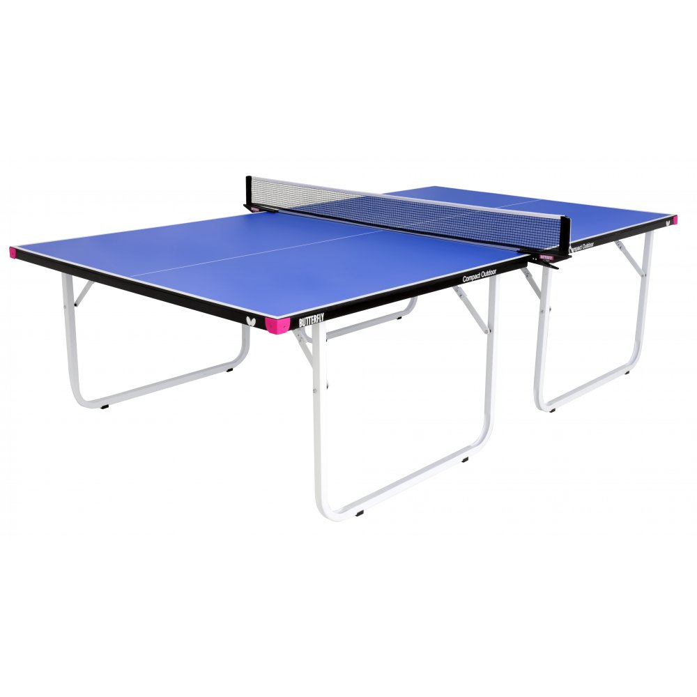 Butterfly Compact 10 Wheelaway Outdoor Table Tennis Table  Blue
