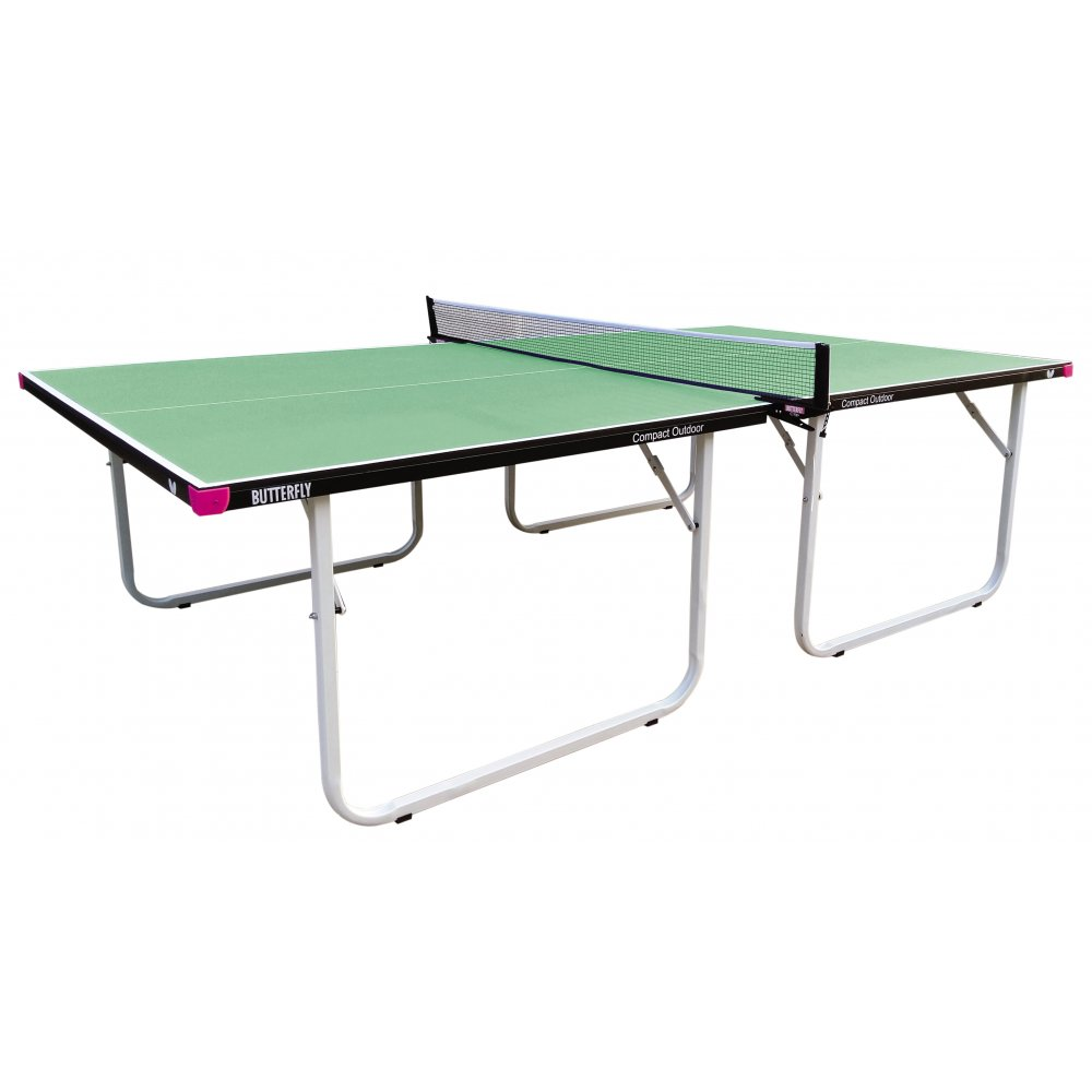 Butterfly Compact 10 Wheelaway Outdoor Table Tennis Table  Green