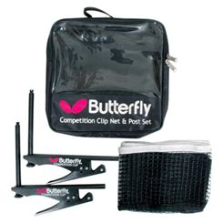 Butterfly Competition Clip Table Tennis Net and Post Set