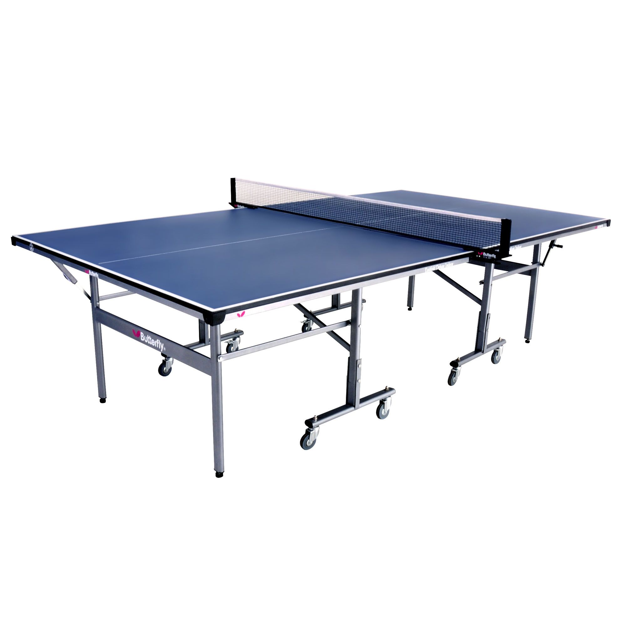 Most table tennis tables have a wood or composite surface, designed to deliver quick response and bounce for intense play. For efficient play, choose a table that comes with storage, including racket holders, nets, scorers and built-in ball holders.