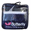 Butterfly Economy Clip Table Tennis Net and Post Set Packaging