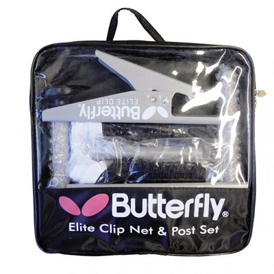Butterfly Elite Clip Table Tennis Net and Post Set