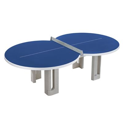 Butterfly Figure Eight Concrete Table Tennis Table - Blue