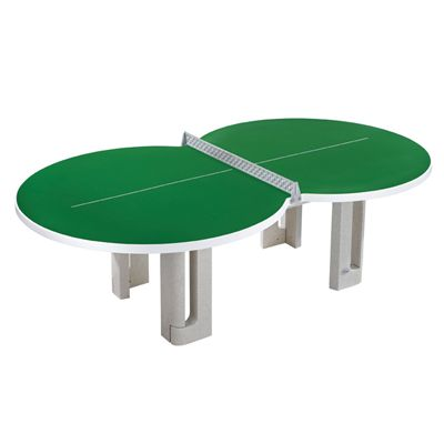 Butterfly Figure Eight Concrete Table Tennis Table - Green