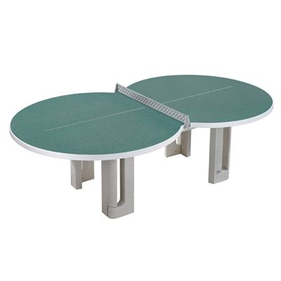 Butterfly Figure Eight Concrete Table Tennis Table - Granite Green